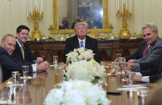 Donald Trump, Charles Schumer, Paul Ryan, Kevin McCarthy
