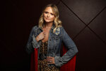 This Oct. 9, 2019 photo shows country singer Miranda Lambert posing in Nashville, Tenn., to promote her latest album