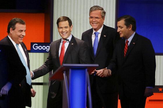 Chris Christie, Marco Rubio, Jeb Bush, Ted Cruz