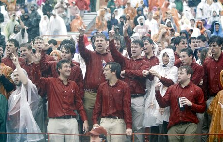 Texas Fans in the Rain