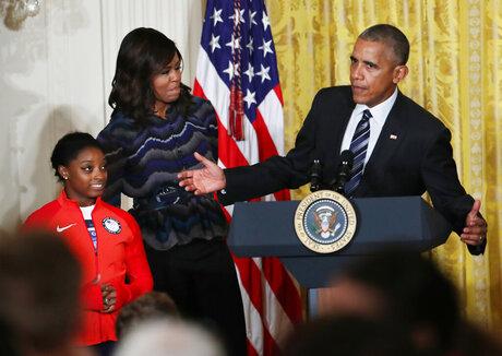 Barack Obama, Michelle Obama, Simone Biles