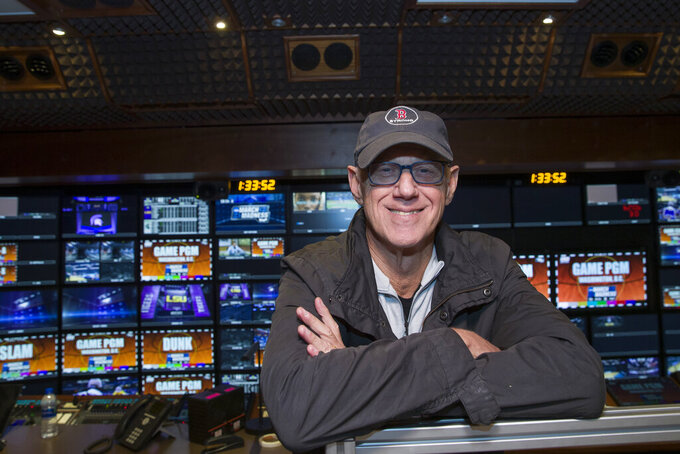In this Thursday, March 28, 2019 photo, CBS director Bob Fishman poses in the production truck in Washington, D.C. Fishman is preparing to direct his 38th Final Four this week in Minneapolis. If anyone can speak about the growth of the NCAA Tournament on television it is Fishman. (AP Photo/Alex Brandon)