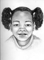 This forensic artist's sketch provided by the San Francisco Police Department shows what missing 7-year-old Arianna Fitts may look like today, in 2021. Arianna was 2 years old when she was last seen in Oakland, Calif., in February 2016. The body of her mother was found on April 8 of that year, buried in a shallow hole in San Francisco's McLaren Park. On Thursday, April 8, 2021, San Francisco police offered a $100,000 reward in hopes of finding Arianna. (San Francisco Police Department via AP)