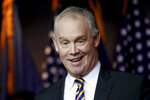 Pennsylvania Speaker of the House Mike Turzai  announces at a news conference he will not run for another term as a Pennsylvania representative, Thursday, Jan. 23, 2020, in McCandless, Pa. (AP Photo/Keith Srakocic)