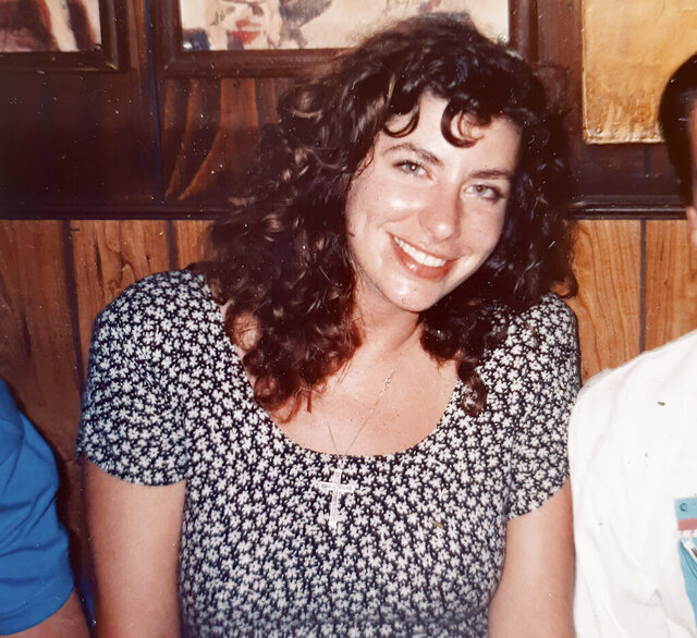 This photo provided by Tara Reade, shows Tara Reade out with friends in Washington, in 1992 or 1993, during the time she worked for then- Sen. Joe Biden, D-Del. (Tara Reade via AP)