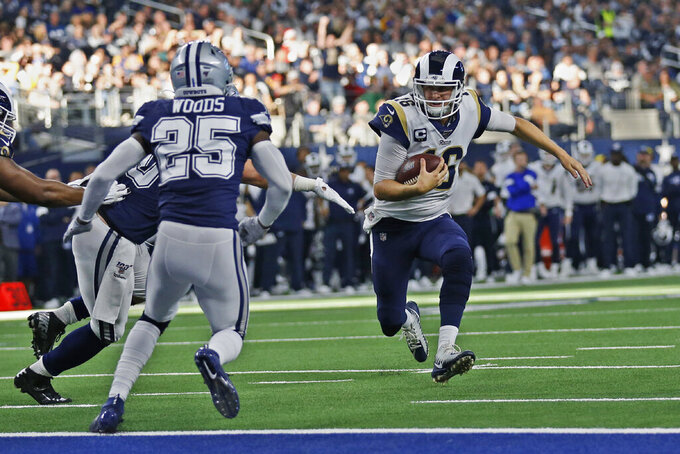 Cowboys render coin toss mix-up moot, throttle Rams 44-21