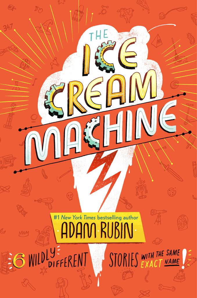 """This cover image released by G. P. Putnam's Sons Books for Young Readers shows """"The Ice Cream Machine,"""" a collection of six humorous stories raging from science fiction to adventure narratives by Adam Rubin. (G. P. Putnam's Sons Books for Young Readers via AP)"""