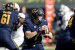 California quarterback Chase Garbers looks to pass against the Stanford in the first quarter of a football game in Berkeley, Calif., Saturday, Dec. 1, 2018. (AP Photo/John Hefti)