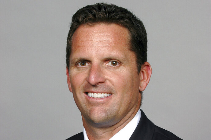 This undated photo provided by the Minnesota Vikings shows George Paton. New Browns coach Kevin Stefanski could be reuniting with an old friend in Cleveland. The team is interviewing Vikings assistant general manager George Paton for the second time to be their new GM, a person familiar with the meeting told The Associated Press on Wednesday, Jan. 22, 2020. (Minnesota Vikings via AP)