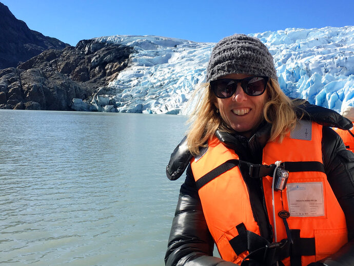 This image released by Discovery Channel shows filmmaker Rory Kennedy during the filming of her new documentary,