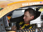 Ryan Newman prepares to go out on the track for NASCAR auto race practice at Daytona International Speedway, Saturday, Feb. 9, 2019, in Daytona Beach, Fla. (AP Photo/John Raoux)