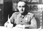 FILE - In this black and white file photo dated 1936, General Francisco Franco, Generalissimo of the anti-republican military forces and appointed head of Nationalist Spain, is seen in 1936 during the time of the Spanish Civil War.  Spain's Justice Ministry on Wednesday March 5, 2019, invited people to send by email any details they have about officially unrecorded victims of the country's 1936-39 Civil War and the four decades of dictatorship that followed under Gen. Francisco Franco, aiming to create a reliable census and helping to identify the estimated 114,000 victims. (AP Photo, FILE)