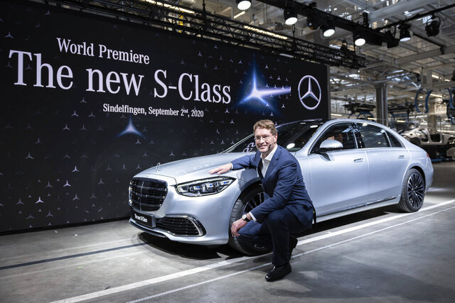 Ola Kaellenius, Chairman of the Board of Management of Daimler AG, presents the new Mercedes-Benz S-Class at the world premiere in the