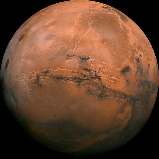 FILE - This image made available by NASA shows the planet Mars. This composite photo was created from over 100 images of Mars taken by Viking Orbiters in the 1970s. NASA is underestimating the amount of time and money it will take to bring Mars rocks back to Earth in the coming decade, an independent panel said Tuesday, Nov. 10, 2020. (NASA via AP)