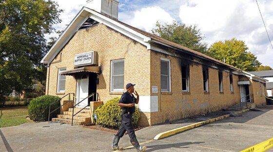 Black Church Burned Mississippi