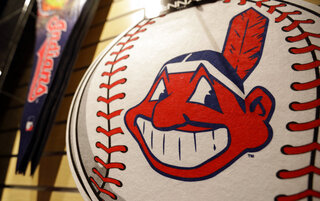 Indians Chief Wahoo Dropped Baseball