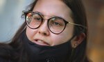 Natalia Afonso, 27, an international student from Brazil at Brooklyn College, speaks during an interview on, Thursday, July 9, 2020, in New York. Afonso, who is studying teaching education and finished her first semester this spring, said she has lived in the U.S. for 7 years and