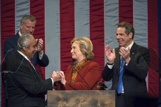 Hillary Clinton, Charles Rangel, Bill de Blasio, Andrew Cuomo