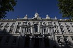General view of Spain's Supreme Court in Madrid, Spain, Wednesday, June 12, 2019. A dozen politicians and activists on trial for their failed bid in 2017 to carve out an independent Catalan republic in northeastern Spain will deliver their final statements Wednesday as four months of hearings draw to an end. Since mid-February, the trial at Spain's Supreme Court in Madrid has heard testimony from more than 500 witnesses and seen hours of videos from protests that included a police crackdown. It all played out before a live television audience as prosecutors accused the defendants of attempting a
