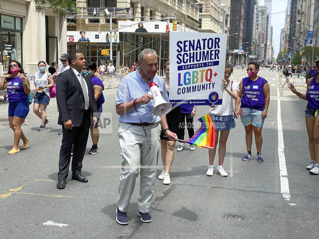 Chuck Schumer at the LGBTQ Pride Celebration in NYC - 6/27/21