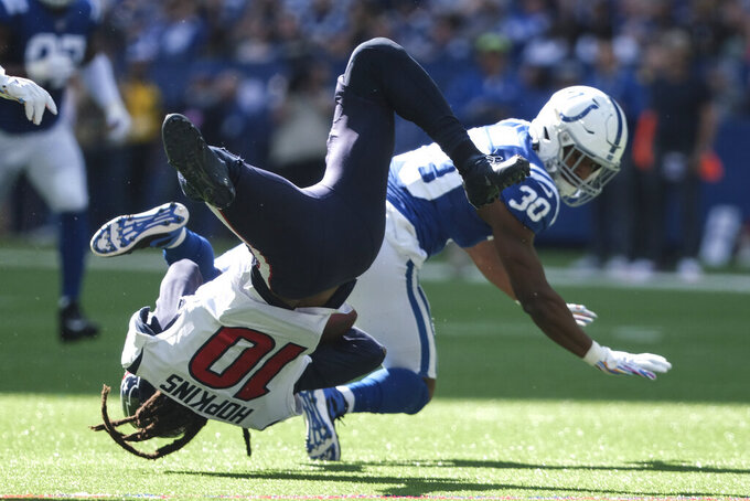 Texans bemoan penalties, mistakes in loss to Colts
