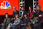 FILE - In this Jan. 11, 2020, file photo, Mary Steenburgen, second from right in the bottom row, a cast member in the NBCUniversal series