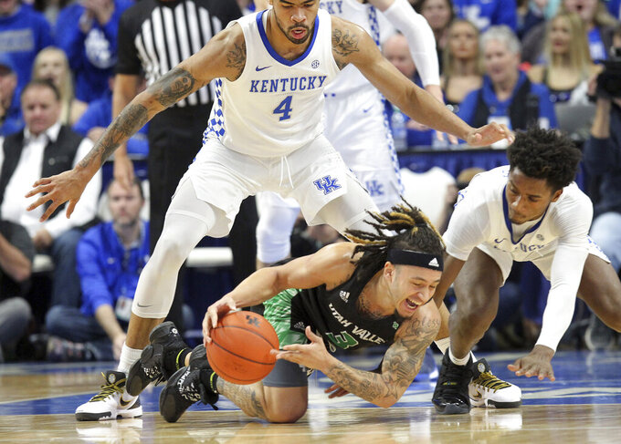Utah Valley Wolverines at Kentucky Wildcats 11/18/2019