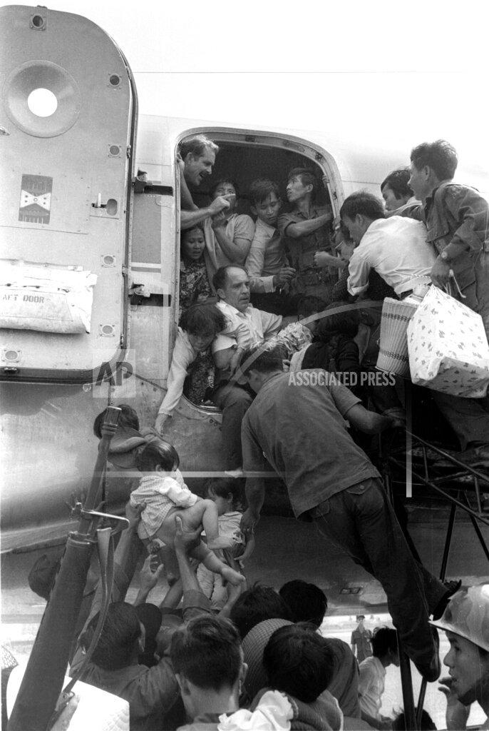 Associated Press International News Vietnam CIVILIAN EVACUATION