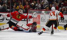 Flames Blackhawks Hockey