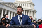 Rep. Markwayne Mullin, R-Okla., speaks during a news conference about the
