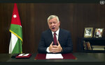 In this image made from UNTV video, Jordan's King Abdullah II speaks in a pre-recorded message which was played during the 75th session of the United Nations General Assembly, Tuesday, Sept. 22, 2020, at UN headquarters. The U.N.'s first virtual meeting of world leaders started Tuesday with pre-recorded speeches from some of the planet's biggest powers, kept at home by the coronavirus pandemic that will likely be a dominant theme at their video gathering this year. (UNTV via AP)