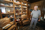 Former Dallas Cowboys and NFL football great Cliff Harris stands in his study during an interview at his home in North Dallas, Wednesday, June 30, 2021.  Harris and receiver Drew Pearson, who also will be inducted this year as part of the class of 2021, are the first undrafted Cowboys among their 15 players in the Hall of Fame.(AP Photo/LM Otero)