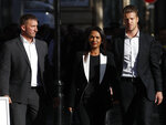 Ant-Brexit campaigner Gina Miller arrives at the Supreme Court in London, Wednesday, Sept. 18, 2019. The Supreme Court is set to decide whether Prime Minister Boris Johnson broke the law when he suspended Parliament on Sept. 9, sending lawmakers home until Oct. 14 — just over two weeks before the U.K. is due to leave the European Union. (AP Photo/Alastair Grant)
