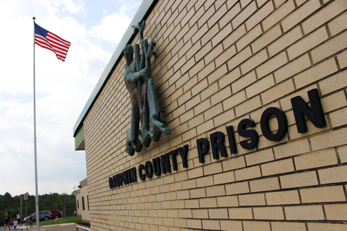 The Dauphin County Prison in Harrisburg, Pennsylvania, is seen in this August 15, 2019 photo. The family of 21-year-old inmate Ty'rique Riley is raising questions about his July 1 death in custody. (AP Photo/Michael Rubinkam)