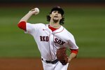 Boston Red Sox's Chris Mazza pitches against the New York Yankees during the first inning of a baseball game, Saturday, Sept. 19, 2020, in Boston. (AP Photo/Michael Dwyer)