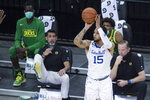 Seton Hall's Takal Molson looks to shoot and score against Oregon during the first half of an NCAA college basketball game in Omaha, Neb., Friday, Dec. 4, 2020. (AP Photo/Kayla Wolf)