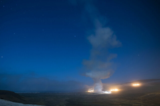 An Air Force Global Strike Command unarmed Minuteman III intercontinental ballistic missile launches during an operational test at 12:21 a.m. Tuesday, Aug. 4, 2020 at Vandenberg Air Force Base, Calif. Its three reentry vehicles traveled 4,200 miles to the Kwajalein Atoll in the Marshall Islands as part of a developmental test. Officials say test launches are essential to sustaining the aging Minuteman 3 nuclear weapon system. (Senior Airman Hanah Abercrombie/U.S. Air Force via AP)