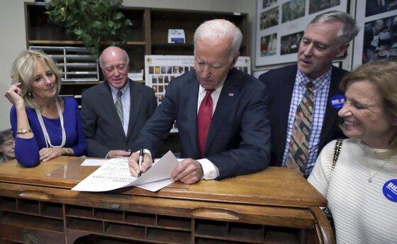 Joe Biden, Bill Gardner, Jill Biden