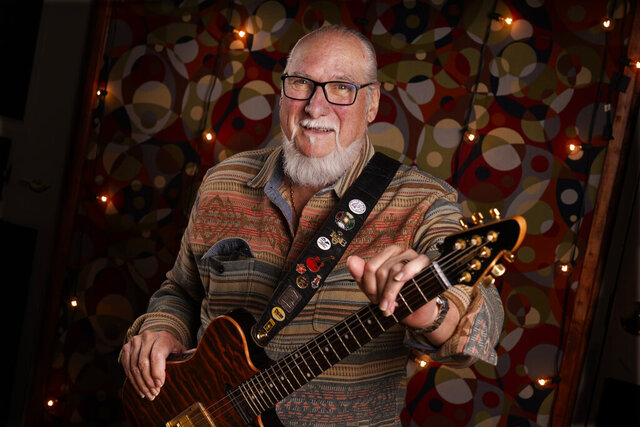 Guitarist, songwriter and record producer Steve Cropper poses Wednesday, Dec. 2, 2020, in Nashville, Tenn. Cropper has been in the music business for more than six decades. At a time when it was common for white musicians to co-opt the work of Black artists, Cropper was that rare white artist willing to keep a lower profile and collaborate. More than half a century later, he is still making music at 79 years old. His latest album is scheduled for release in April.