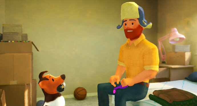 This image released by Pixar Animation Studios shows a scene from the animated short film