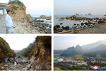 This undated combination photo provided on Wednesday, Oct. 23, 2019 and made by the North Korean government, shows scenes of the Diamond Mountain resort where North Korean leader Kim Jong Un visited, in Kumgang, North Korea. Kim ordered the destruction of South Korean-made hotels and other tourist facilities at the North's Diamond Mountain resort, apparently because Seoul won't defy international sanctions and resume South Korean tours at the site, Pyongyang's official Korean Central News Agency said Wednesday. Independent journalists were not given access to cover the event depicted in this image distributed by the North Korean government. The content of this image is as provided and cannot be independently verified. Korean language watermark on image as provided by source reads: