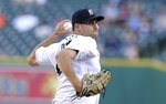 Detroit Tigers starting pitcher Matthew Boyd throws during the second inning of a baseball game against the Minnesota Twins, Wednesday, June 13, 2018, in Detroit. (AP Photo/Carlos Osorio)