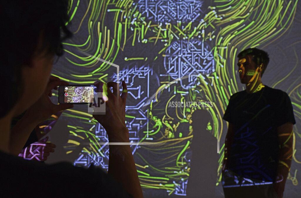 Interactive projection in the Bauhaus Museum Weimar