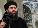 "FILE - This file image made from video posted on a militant website Saturday, July 5, 2014, purports to show the leader of the Islamic State group, Abu Bakr al-Baghdadi, delivering a sermon at a mosque in Iraq during his first public appearance. In a video released on April 29, 2019, the Islamic State group's leader extolled militants in Sri Lanka for ""striking the homes of the crusaders in their Easter, in vengeance for their brothers in Baghouz,"" a reference to IS' last bastion in eastern Syria, which was captured by U.S.-backed fighters in March. (AP Photo/Militant video, File)"
