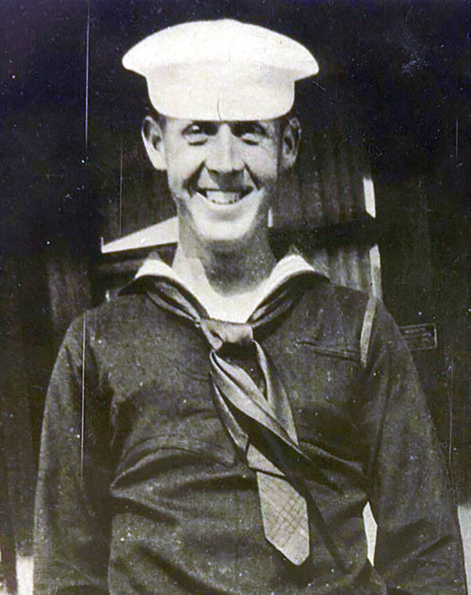 This undated photo provided by The Defense POW/MIA Accounting Agency (DPAA) shows Petty Officer 1st Class Charles E. Hudson, of Stockton, Calif. The remains of Hudson, who was killed in the Dec. 7, 1941, attack on Pearl Harbor have finally been identified. The Defense POW/MIA Accounting Agency said Friday, July 23, 2021, that Hudson of Stockton was assigned to the USS Oklahoma and died when the battleship was attacked by Japanese torpedo planes and quickly capsized. A total of 429 crew members were killed but many were interred without identification. (DPAA via AP)