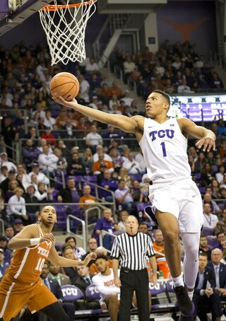 Texas vs TCU mens basketball