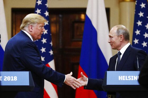 APTOPIX Finland Trump Putin Summit