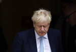 Britain's Prime Minister Boris Johnson leaves Downing Street to attend Parliament in London, Thursday, Oct. 3, 2019. The U.K. offered the European Union a proposed last-minute Brexit deal on Wednesday that it said represents a realistic compromise for both sides, as British Prime Minister Boris Johnson urged the bloc to hold