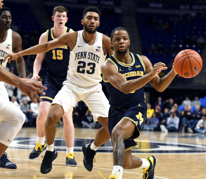 Stevens' double-double leads Penn State over No. 6 Michigan