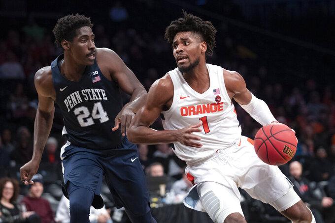 Stevens, Watkins help Penn St. beat Syracuse 85-64